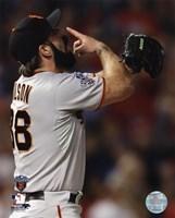"Brian Wilson Celebrates Winning Game Five of the 2010 World Series - 8"" x 10"""