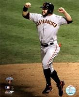 "Cody Ross Celebrates Edgar Renteria's 3 Run Home Run Game Five of the 2010 World Series - 8"" x 10"""