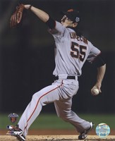 """Tim Lincecum Game Five of the 2010 World Series Action - 8"""" x 10"""""""