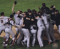The San Francisco Giants Team Celebration Game Five of the 2010 World Series Fine Art Print