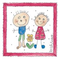 Childhood Friends Fine Art Print