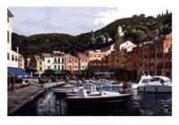 "Sunrise Over Portofino by Bill Saunders - 39"" x 28"""