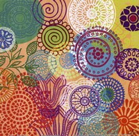 Circle Flowers I Fine Art Print