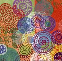 Circle Flowers III Fine Art Print