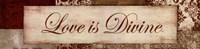 "Love is Divine by Elizabeth Medley - 16"" x 4"", FulcrumGallery.com brand"