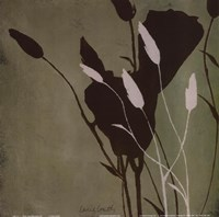 Fleur'ting Silhouettes III Framed Print