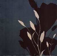 Fleur'ting Silhouettes VI Framed Print