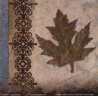 "Decorative Leaf II by Michael Marcon - 6"" x 6"""