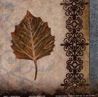 "Decorative Leaf I by Michael Marcon - 6"" x 6"""
