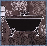 Black & White Tub III Fine Art Print