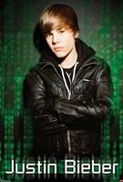 Justin Bieber Green Mural Framed Print