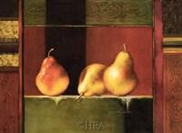 Pears, Deco IV Fine Art Print