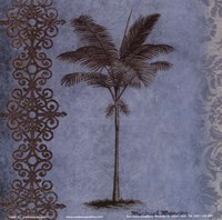 """Palm on Blue I by Michael Marcon - 6"""" x 6"""""""