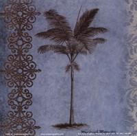Palm on Blue I Framed Print