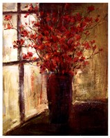 Vase of Red Flowers Fine Art Print