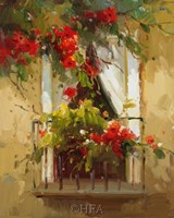 "Romantic Window I by Calvin Stephens - 9"" x 11"""