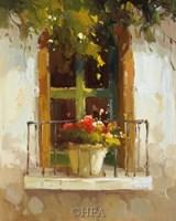 "Romantic Window II by Calvin Stephens - 9"" x 11"""