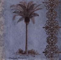 "Palm on Blue II by Michael Marcon - 6"" x 6"""