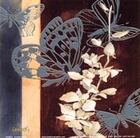 """All a Flutter II - blue by Lanie Loreth - 6"""" x 6"""""""