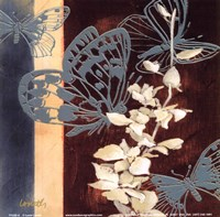 All a Flutter II - blue Framed Print