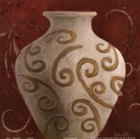 """Vessel on Red I by Lanie Loreth - 12"""" x 12"""""""