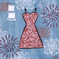 """Pink Dress by Rebecca Lyon - 12"""" x 12"""""""