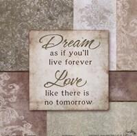 Dream and Love Framed Print