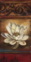 """Red Eclectisim with Water Lily by Patricia Pinto - 12"""" x 24"""""""