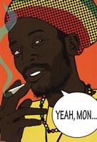 "Rasta - Yeah Mon - 24"" x 36"""