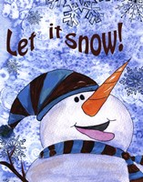 Let it Snow Snowman Fine Art Print