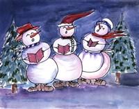 Snowmen Carols Fine Art Print