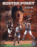Buster Posey 2010 National League Rookie of the Year Composite Framed Print