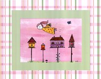 Flyby Fairy - Bird house Framed Print