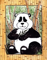 "Panda by Serena Bowman - 11"" x 14"", FulcrumGallery.com brand"