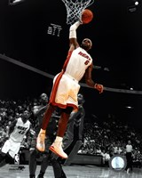 LeBron James 2010-11 Spotlight Action Fine Art Print