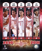 2010-11 Houston Rockets Team Composite Fine Art Print