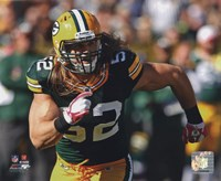 Clay Matthews 2010 Action Fine Art Print