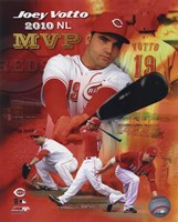 Joey Votto 2010 National League MVP Portrait Plus Fine Art Print