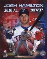 Josh Hamilton 2010 Americal League MVP Portrait Plus Fine Art Print