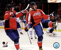 Alex Ovechkin & Nicklas Backstrom 2010-11 Action Fine Art Print