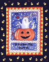Halloween Ghost (Blue) Fine Art Print