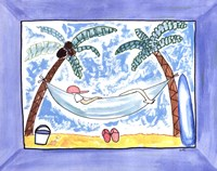 "Lazy Day at the Beach by Serena Bowman - 14"" x 11"""
