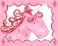 Royal Unicorn - Rose Framed Print