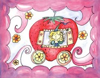 """Strawberry Carriage by Serena Bowman - 14"""" x 11"""", FulcrumGallery.com brand"""
