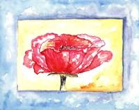 "Pink Poppy by Serena Bowman - 14"" x 11"", FulcrumGallery.com brand"
