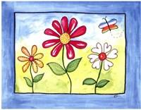Blue Flower Land Framed Print