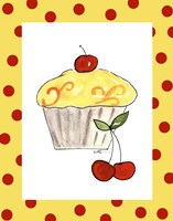Lemon Cupcake Framed Print