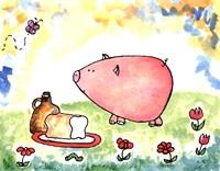 Loaf of Bread Jug and Swine Fine Art Print