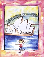 Girl In Sydney Framed Print