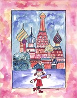 Girl In Russia Fine Art Print